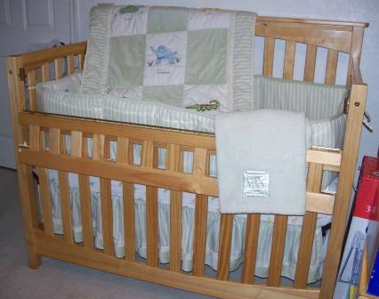 Infinity Crib for Life with Tiddliwinks Jungle bedding